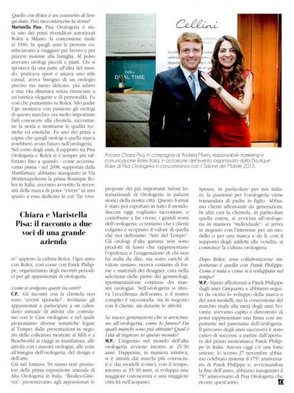 """The pleasure of choice"" – L'OROLOGIO"
