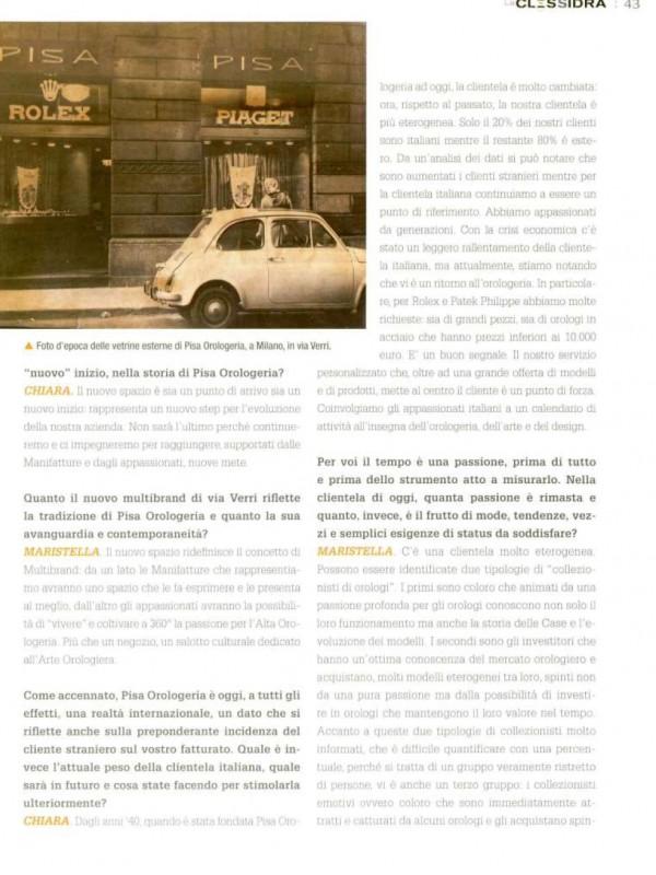 """A close-up look at the topic"" – LA CLESSIDRA"