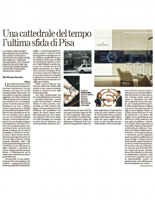 """""""A cathedral of time is the new challenge of Pisa"""" – LA REPUBBLICA"""