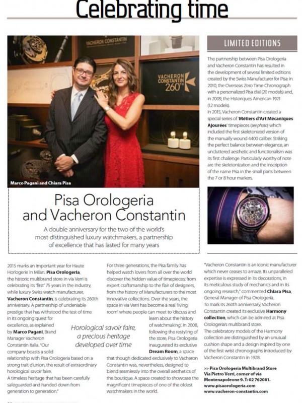 """Pisa Orologeria and Vacheron Costantin"" – WHERE MAGAZINE"