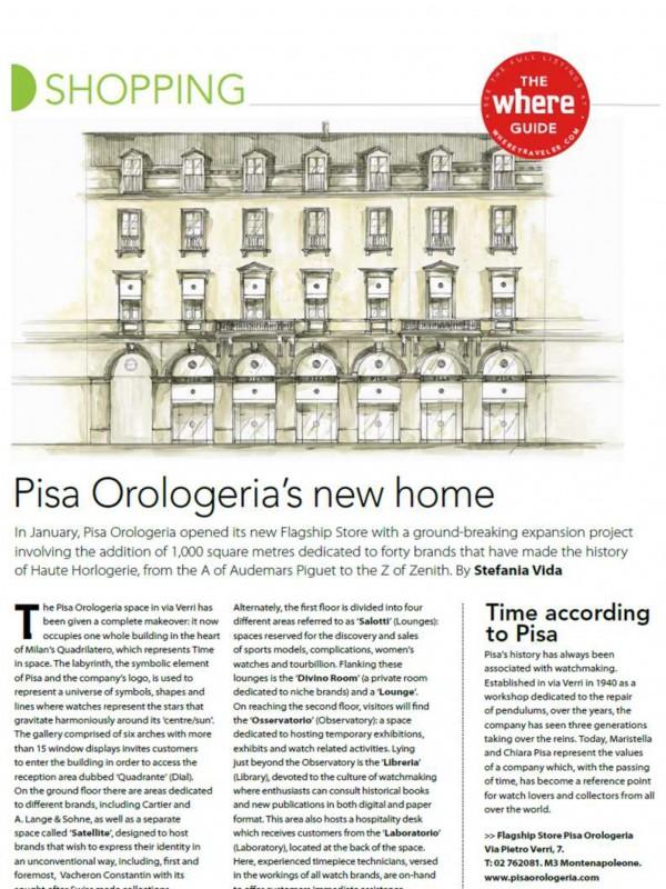 """Pisa Orologeria's new home"" – WHERE MAGAZINE"