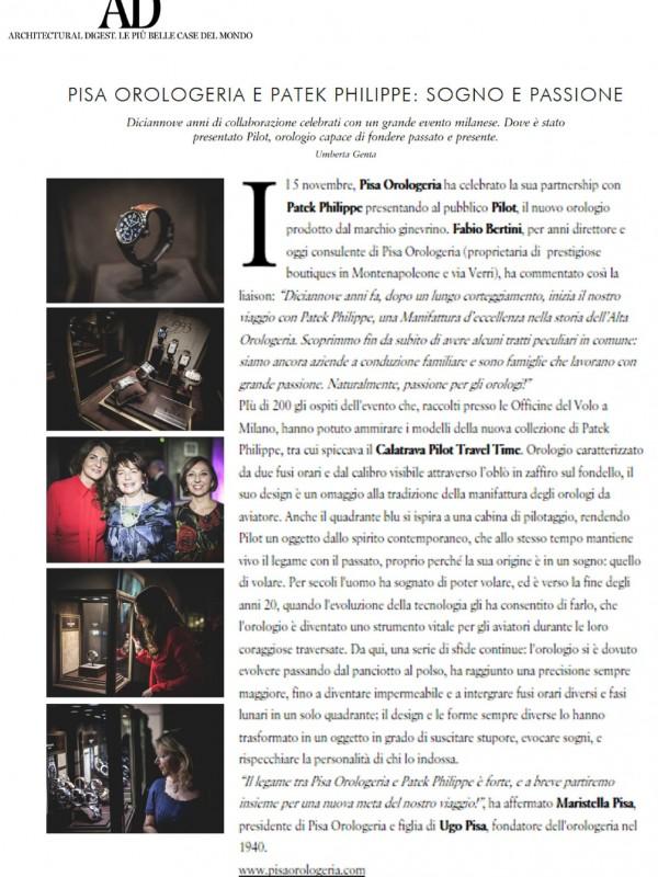 """""""Pisa orologeria e Patck Philippe: sogno e passione"""" – WWW.AD.VFNETWORK.IT"""