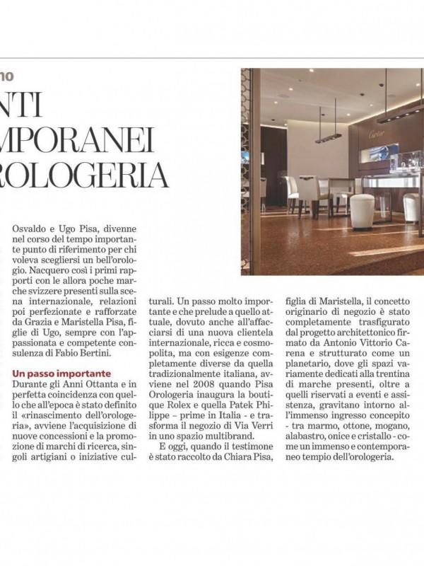 """""""The watchmaking world's contemporary moments"""" – LA STAMPA"""