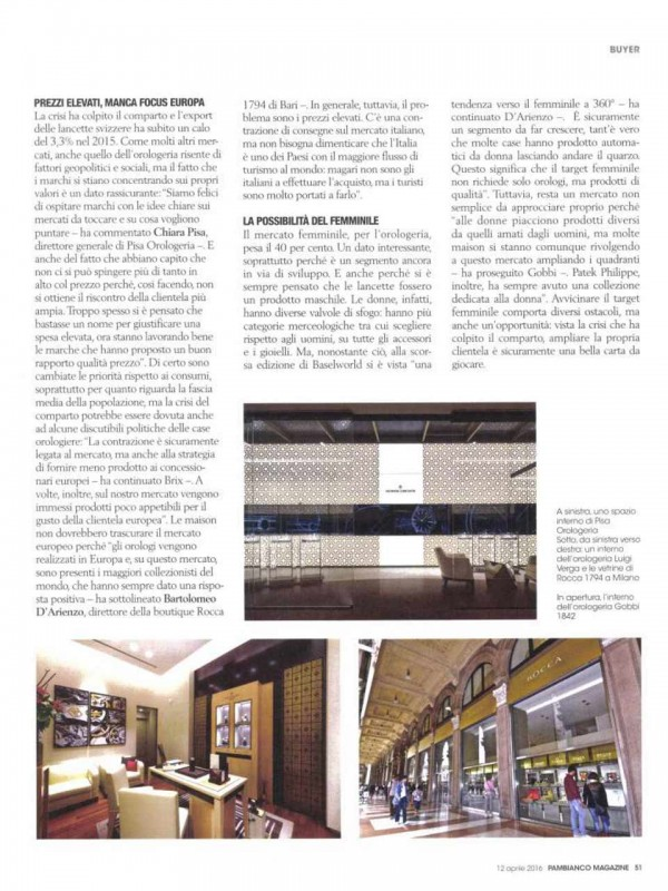 """""""Lancette, the dna wins"""" – PAMBIANCO MAGAZINE"""