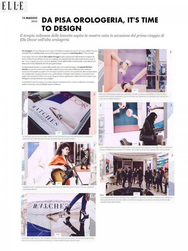 """""""Pisa Orologeria, It's Time to Design"""" – ELLEDECOR.IT"""