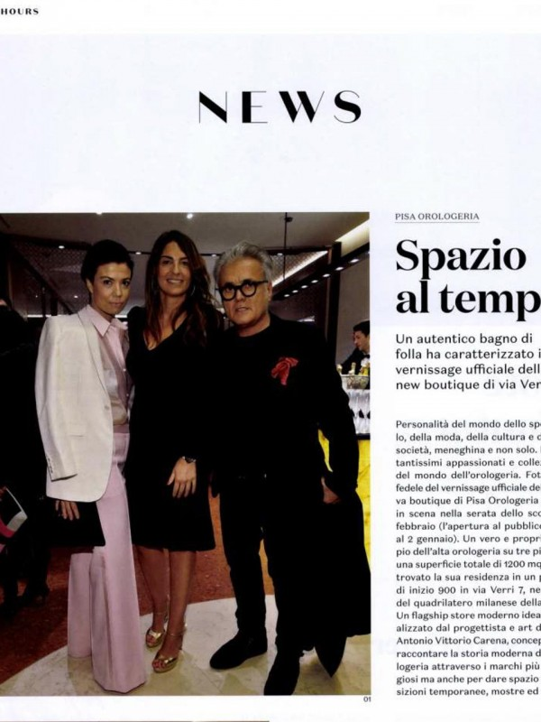 """""""Space to Time"""" – Il SOLE 24 ORE – 24 HOURS"""
