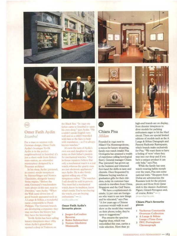"""""""Pisa Orologeria, About the Brand"""" – MONOCLE"""
