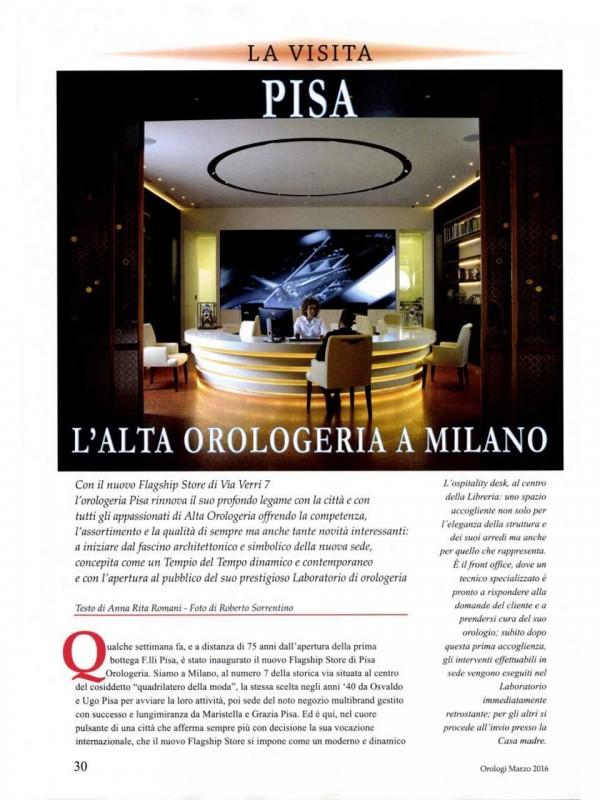 """""""L'Alta Orologeria a Milano"""" – OROLOGI LE MISURE DEL TEMPO"""