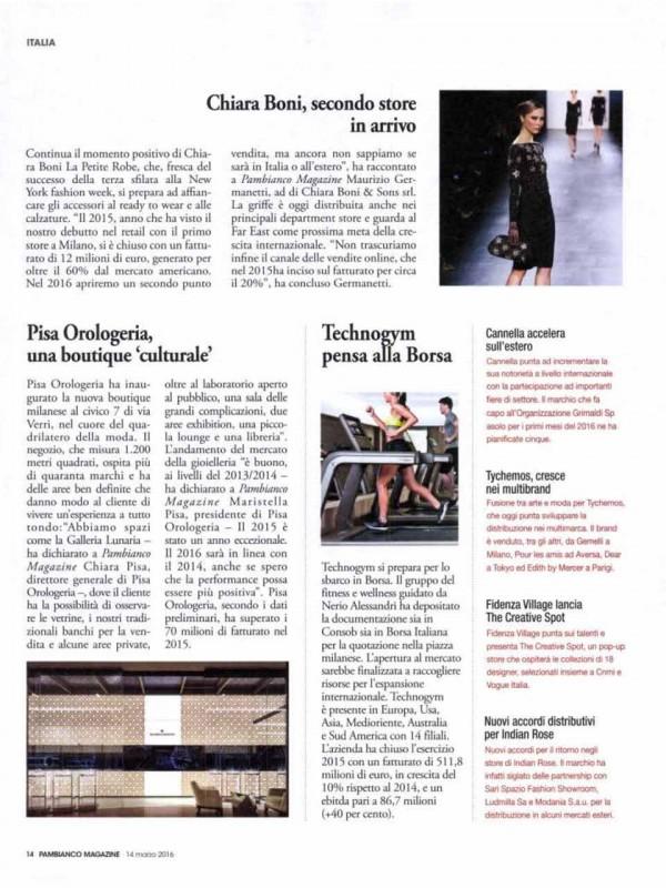 """Pisa Orologeria, a cultural boutique"" – PAMBIANCO.IT"
