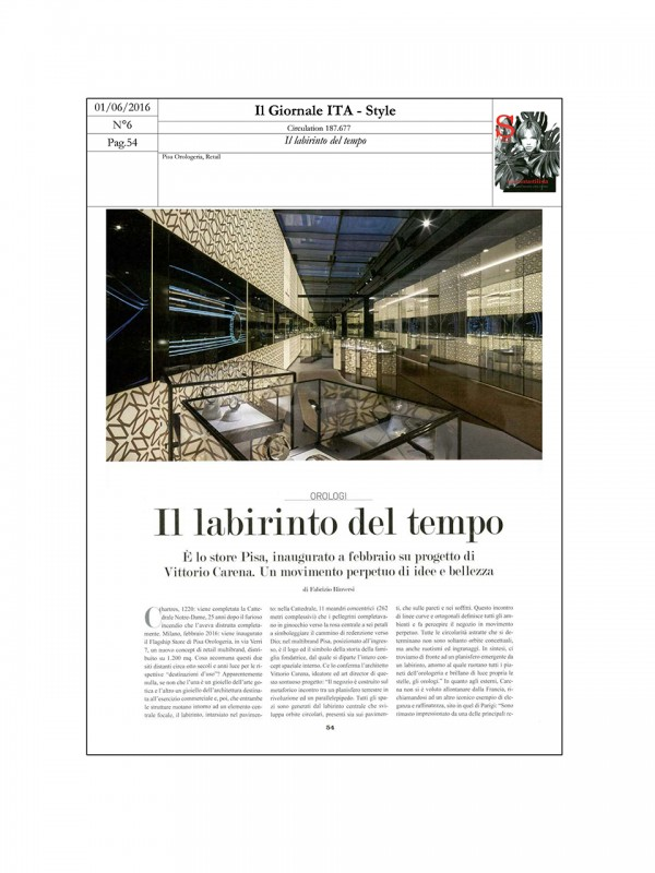 """""""The labyrinth of Time"""" – STYLE – IL GIORNALE"""
