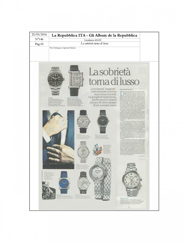 """Luxurious sobriety is back"" – GLI ALBUM DE LA REPUBBLICA – LA REPUBBLICA"