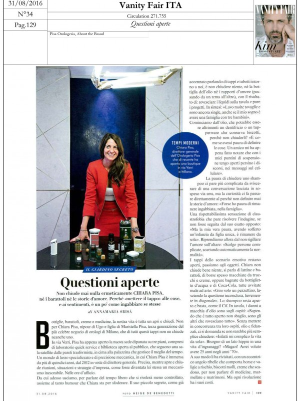 """Questioni aperte"" – VANITY FAIR"