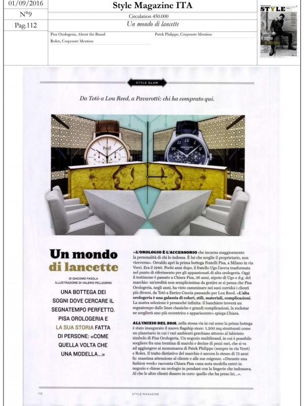 """Lancette's world"" – STYLE MAGAZINE"