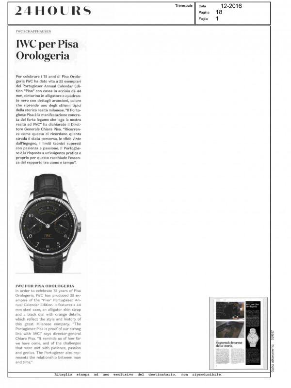 """""""IWC per Pisa Orologeria"""" – 24 HOURS"""