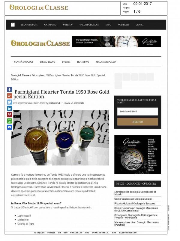 """Parmigiani Fleurier Tonda 1950 Special Edition"" – OROLOGIDICLASSE.COM"
