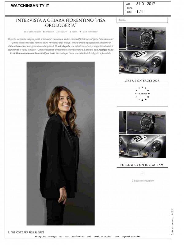 """""""Interview with Chiara Fiorentino"""" – WATCHINSANITY.IT"""