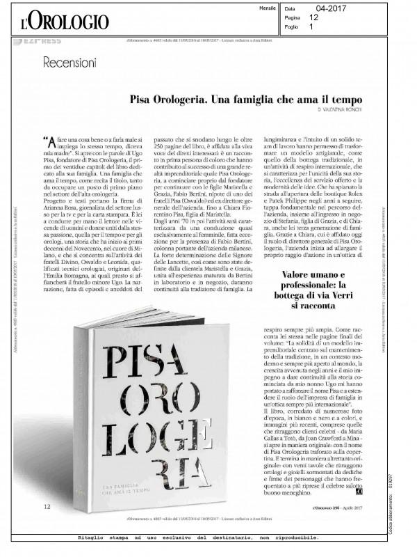 """""""Pisa Orologeria. Una famiglia che ama il Tempo"""" – L'OROLOGIO"""