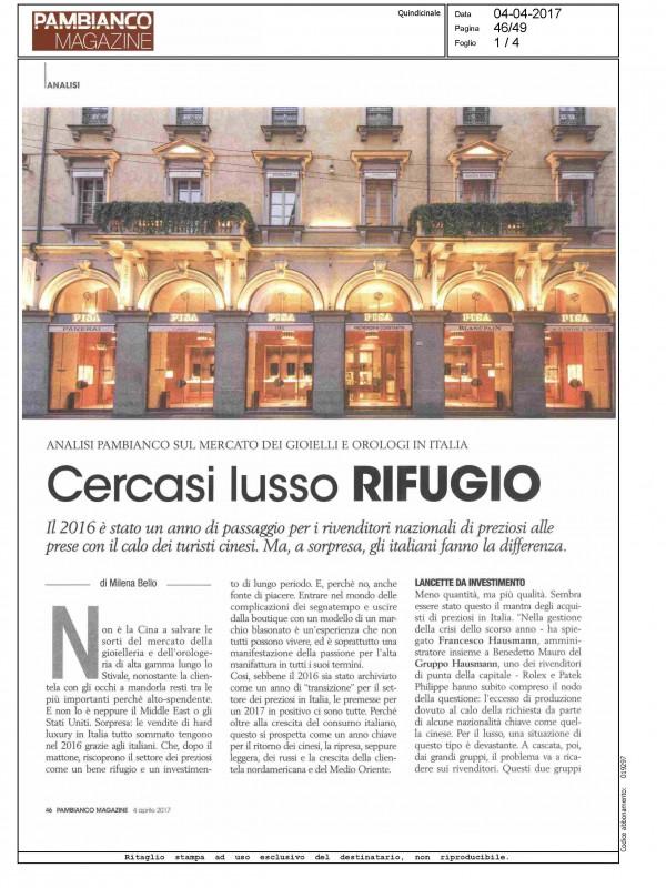 """""""Seeking for luxury safe-havens luxury"""" – PAMBIANCO MAGAZINE"""