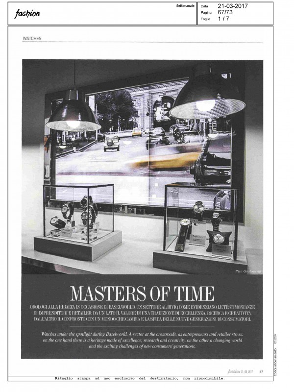 """Masters of Time"" – FASHION"