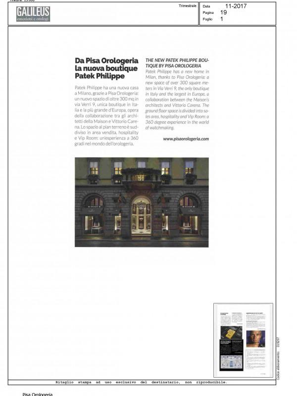 """The new Patek Philippe Boutique by Pisa Orologeria"" – GALILEUS"