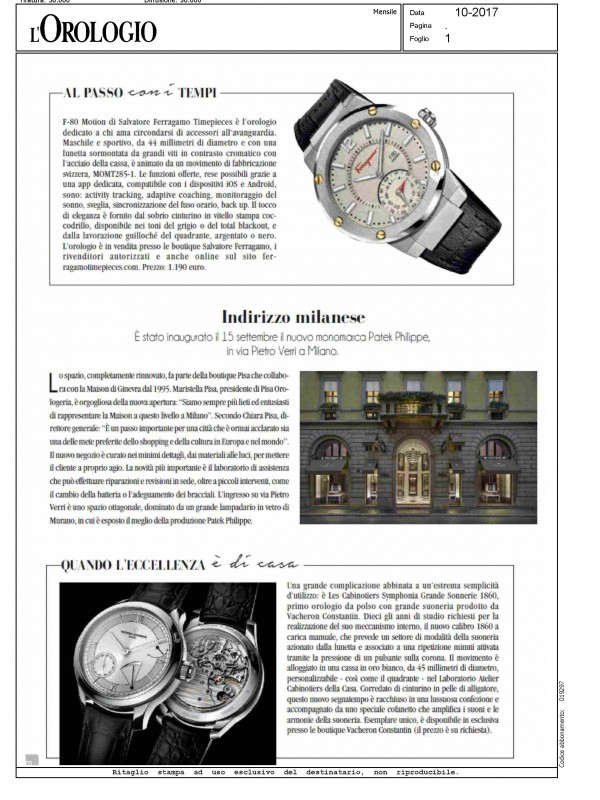 """Milan point of interest"" – L'OROLOGIO"