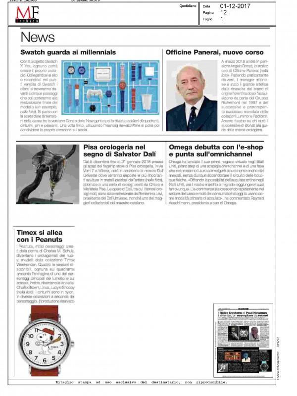 """""""Pisa Orologeria nel segno di Dalì"""" – MF"""