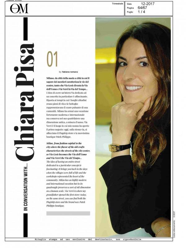 """In conversation with…Chiara Pisa"" – OM"