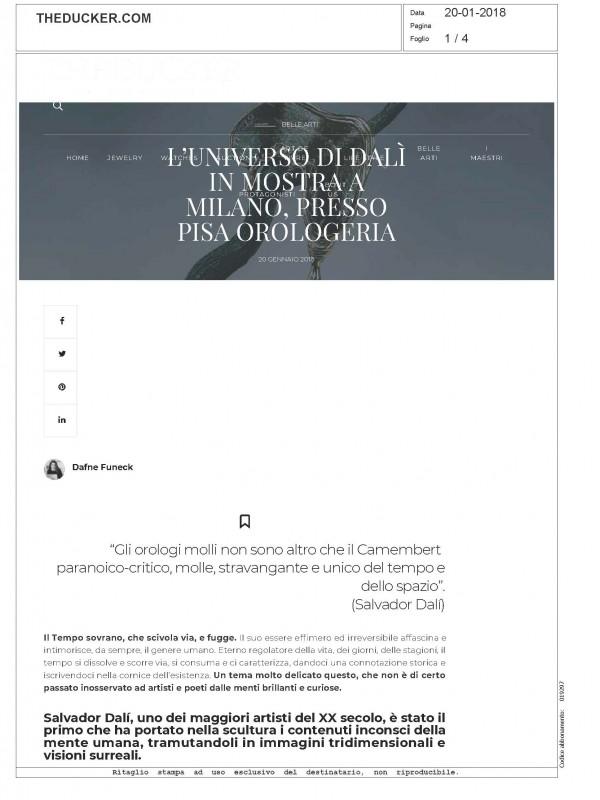 """""""L'universo di Dalí in mostra a Milano"""" – THEDUCKER.COM"""