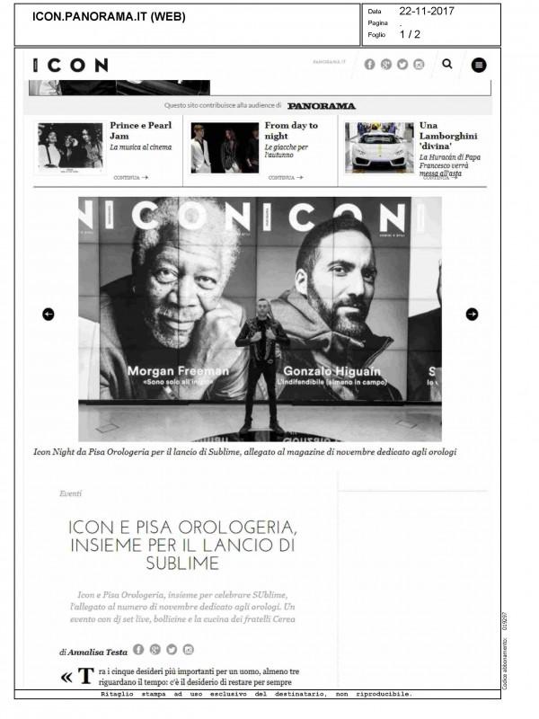 """""""Icon e Pisa Orologeria, insieme per il lancio di Sublime"""" – ICON"""