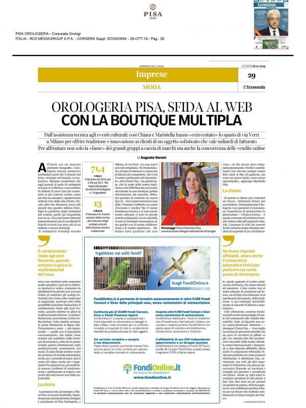 """""""Sfida al web con la Boutique multipla"""" – CORRIERE ECONOMIA"""