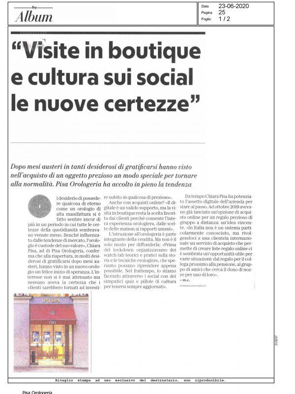 """""""Visite in boutique e cultura sui social le nuove certezze"""" – ALBUM REPUBBLICA"""