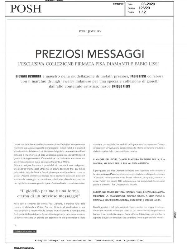 """""""Preziosi messaggi"""" – POSH"""