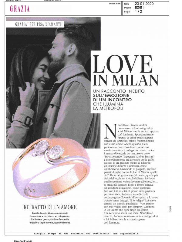 """Love In Milan"" – GRAZIA"